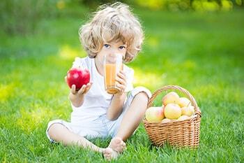 Il succo di frutta nell'alimentazione dei bambini